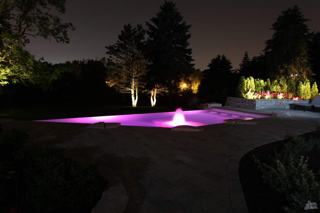 The iPool is designed to work hand-in-hand with today's modern technology features. It's unique shape, complimented by water features and unique seating options makes it a perfect candidate for LED technology. Turn this pool purple, green, blue or orange - it's up to you!