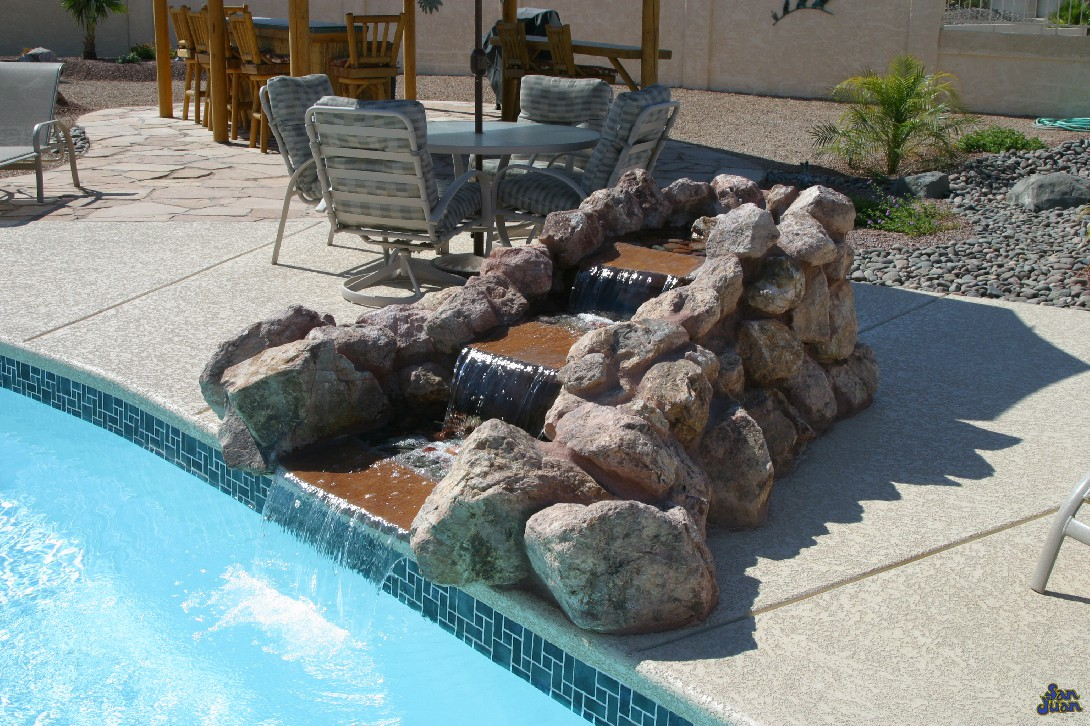 It's all about the accessories. Adding on simple measures such as a rock grotto waterfall or additional water features is a great idea! It really boosts the aesthetics of your fiberglass swimming pool and generates some great talking points!