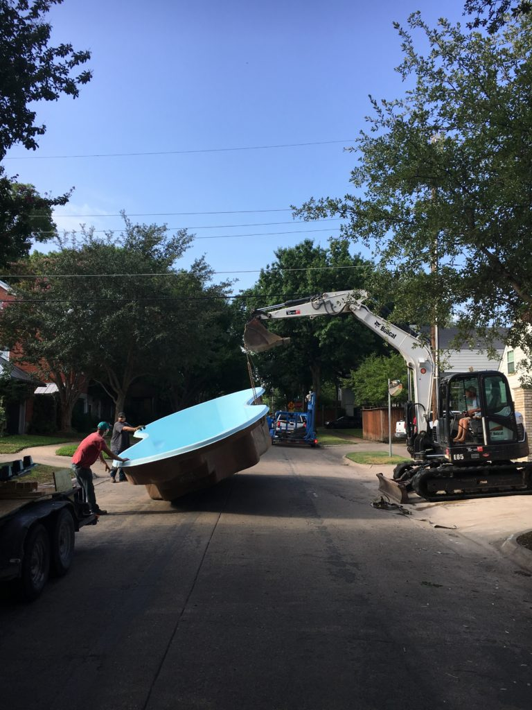 The University Park Job – New Fiberglass Pool Installation