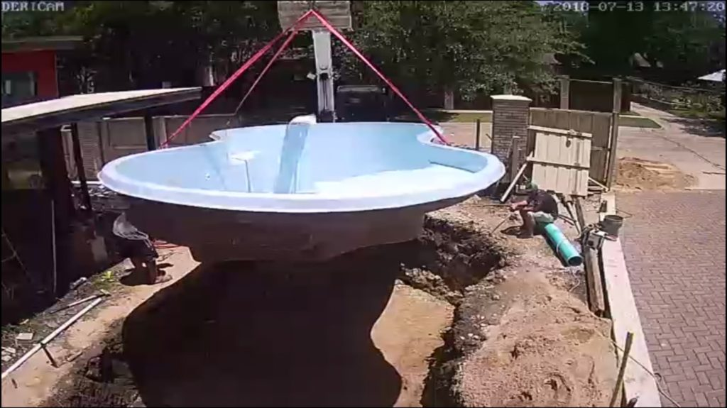 Fiberglass swimming pools are unique in one specific way. We dig your hole and set your pool shell in the same day! No waiting around, dealing with loud annoying equipment or weeks of sub-contractors. We are a minimally invasive swimming pool builder that arrives, installs and provides the best quality swimming pools in North Texas!