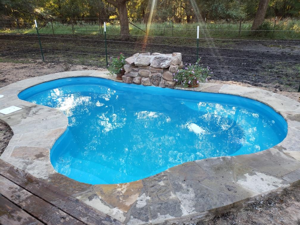 Fiberglass Pool Guyz Installation The Crystal Springs