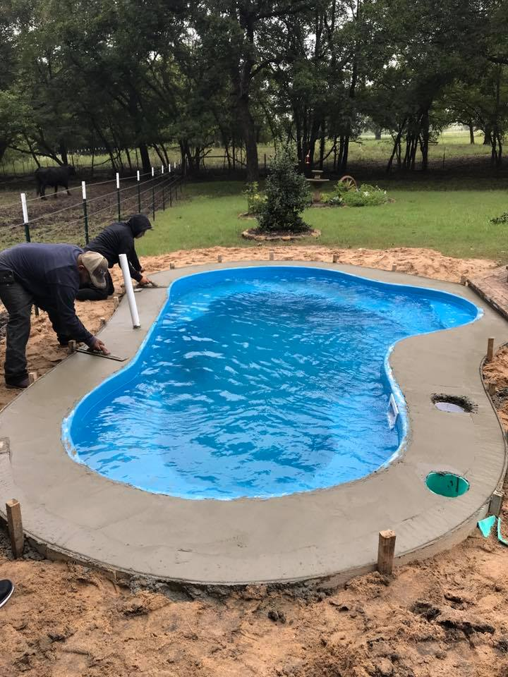 The Crystal Springs – New Pool Installation in Celina TX